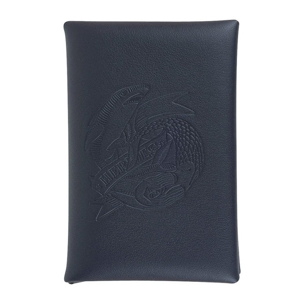 Hermes Calvi Sailor Tattoo Blue Indigo Jaune De Naples Bi-Color Card Holder