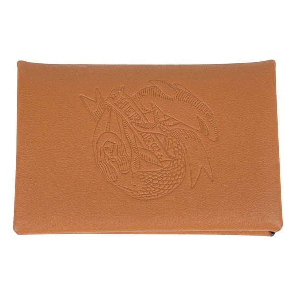 Hermes Calvi Sailor Tattoo Card Holder Gold / Havane Bi-Color Swift Leather