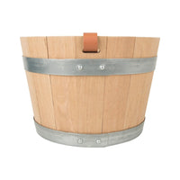 Hermes Groom Stable Bucket Oak Wood Leather Handle New