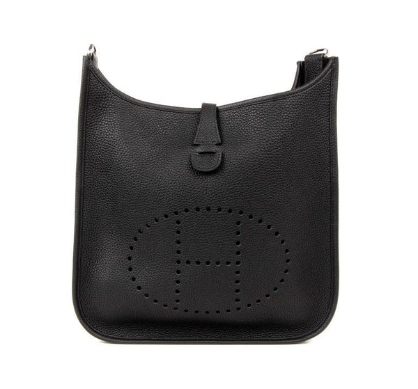 Hermes Bag Evelyne PM Black Clemence Palladium