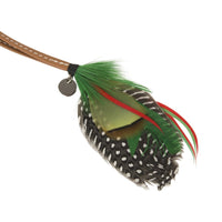 Hermes Gri Gri Mouche Fly Feather Bag Charm Green Red Gray