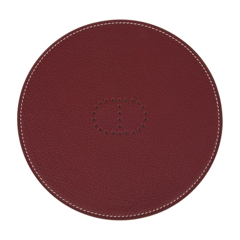 Hermes Kezako Round Mini Pad For the Desk Bi Color Rouge H Gold