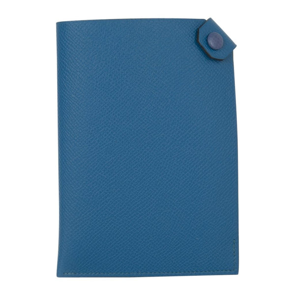 Hermes Tarmac Passport Holder Blue Izmir Epsom Blue Brighton Snap New w/ Box