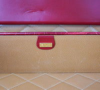 Gucci Briefcase Men's Vintage Burgundy Red Crocodile Attache - mightychic
