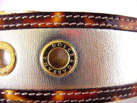 Dolce&Gabbana Belt Divine w/ Silver Leather Leopard Trim Gold Grommets new 90 cm - mightychic