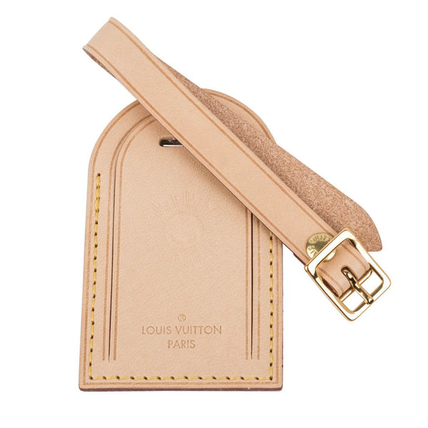Louis Vuitton Luggage Tag Vachetta w/ Sunburst