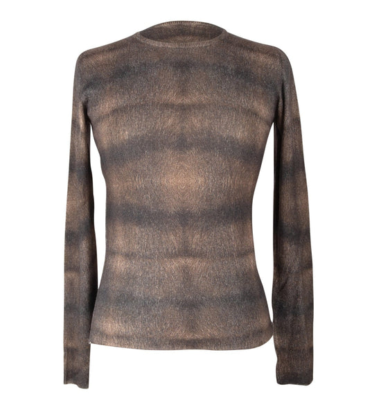 Lucien Pellat-Finet Top Cashmere / Silk  Beautiful Pattern light weight M - mightychic