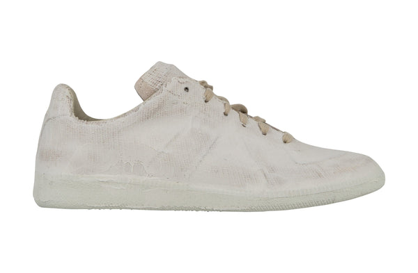 Maison Martin Margiela Men's Sneaker Paint-Finish White 43