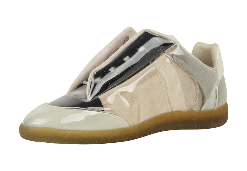 Maison Martin Margiela Men's Sneaker Suede/Leather w/ PVC Cover 43 - mightychic
