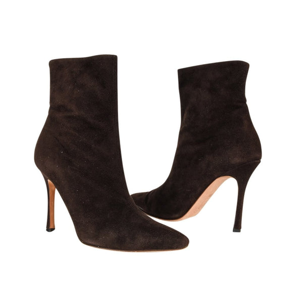Manolo Blahnik Ankle Boot Buttery Soft Suede 36.5 / 6.5 - mightychic