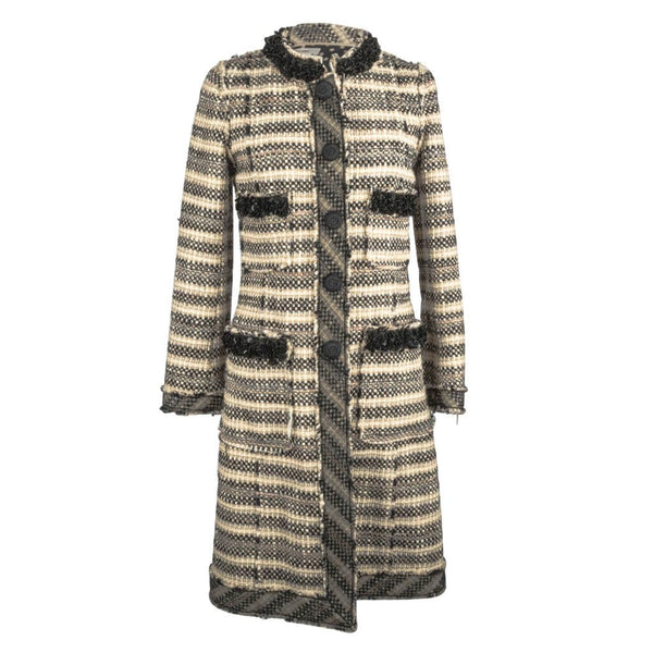 Marc Jacobs Coat Tweed w/ Embellished Details Polka Dot Lining 4