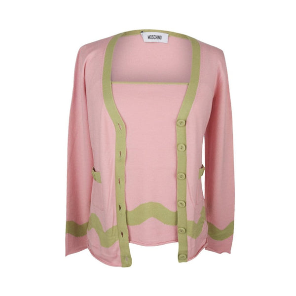 Moschino Sweater Pretty Pink Vintage Twinset  46 / 8