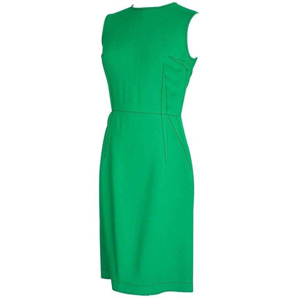 Lanvin Dress Green Stitch Detail Exceptionally Styled 36 / 4