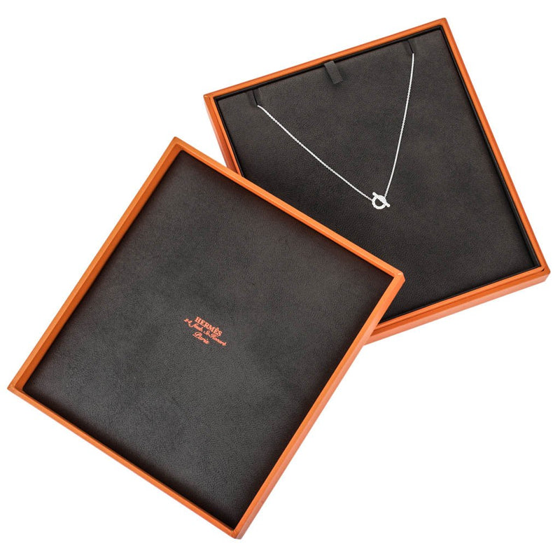 Hermes Necklace Finesse Diamond 18K White Gold New