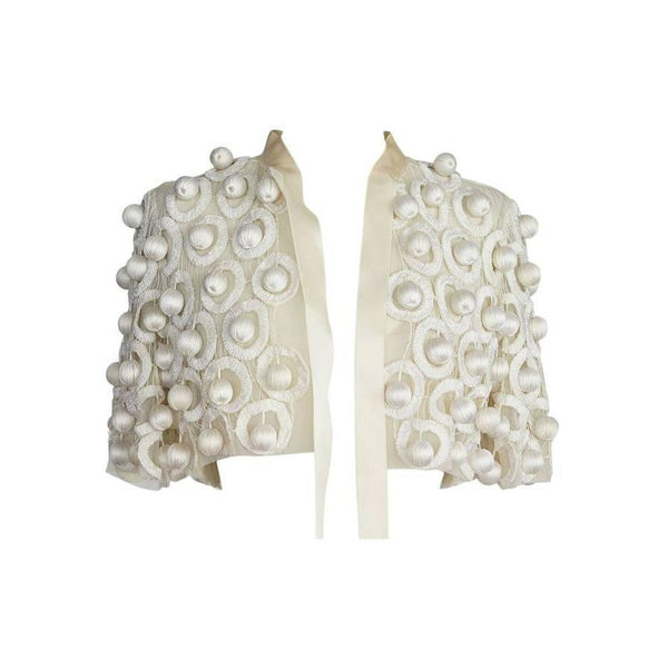 Oscar de la Renta Jacket cream ONE OF A KIND insanely fabulous 4 / 6