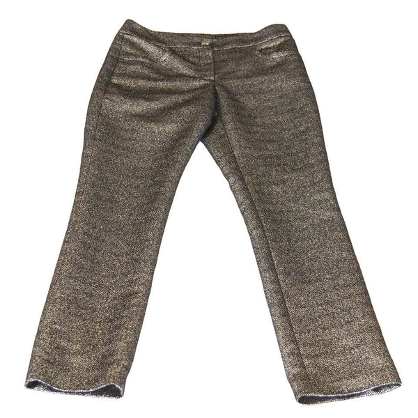 Chanel Pant 12A Gold and Black Tweed Fabulous 38 / 4 nwt - mightychic