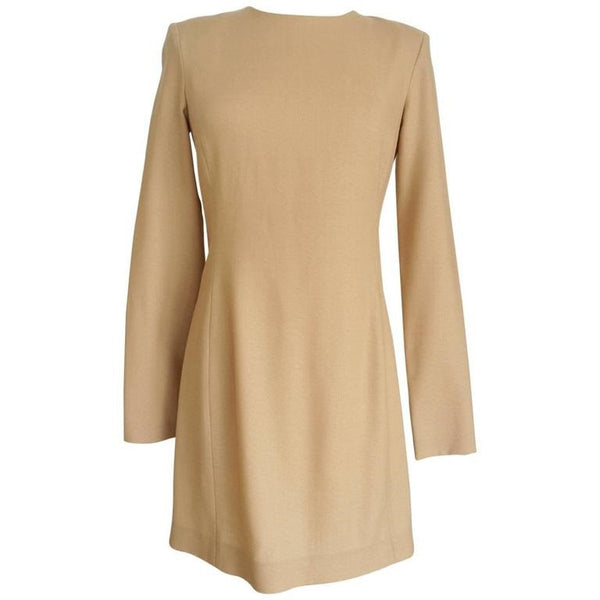 The Row Dress Camel Sleek Long Sleeve 8 fits 6