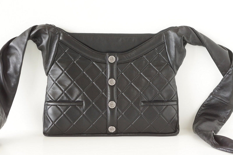 Chanel Bag Black Quilted Girl Bag Limited Edition Crossbody  New - mightychic
