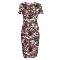Givenchy Dress Lush Floral Fitted Sheath 42 / 6  new - mightychic