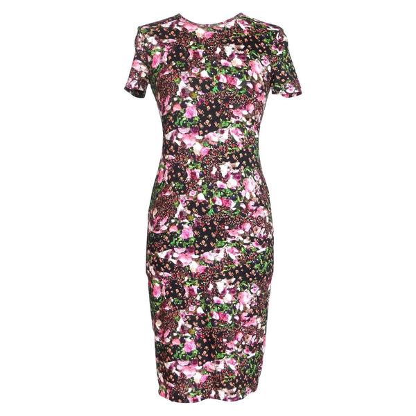 Givenchy Dress Lush Floral Fitted Sheath 42 / 6  new