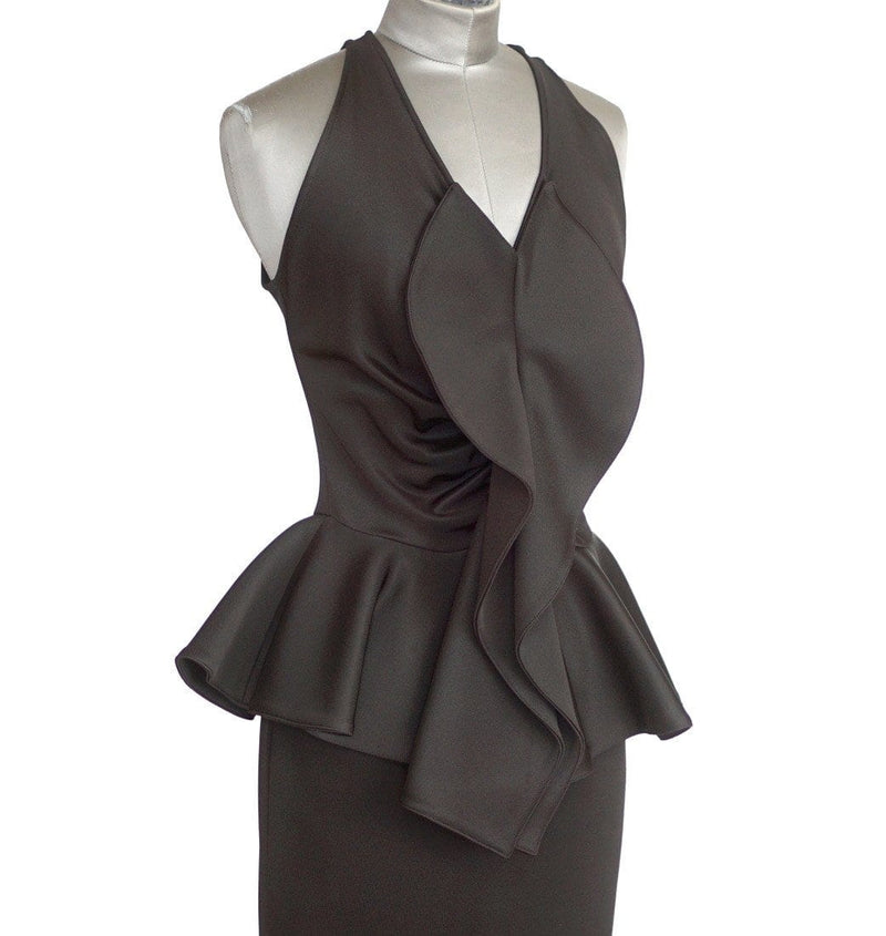 Givenchy Dress Black Ruffle Peplum Beautiful 40 / 6 - mightychic
