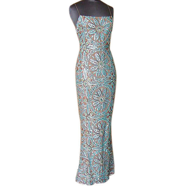 Randolph Duke dress beautiful coloured sequins on tulle gown  6