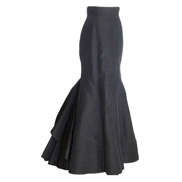 Oscar de la Renta Skirt remarkable Silk Taffeta beautiful rear along formal  4 / 6