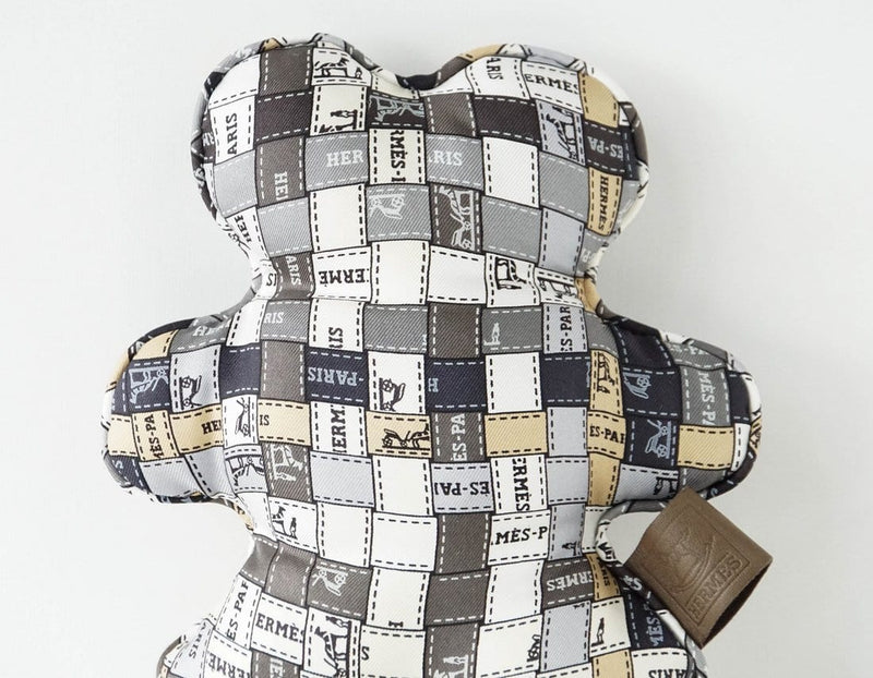 Hermes Doudou Bolduc Silk Teddy Bear SO Charming - mightychic