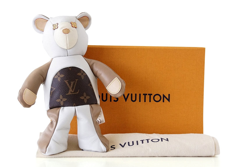 Louis Vuitton Monogram Doudou Teddy Bear Limited Edition 2017 Plush Doll - mightychic