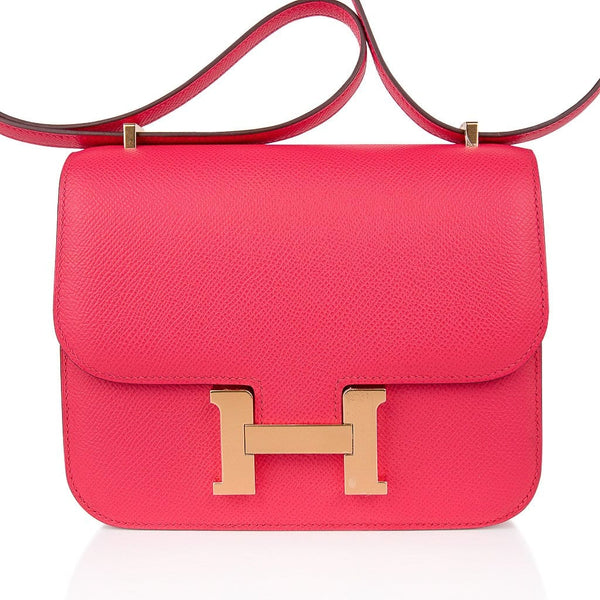 Hermes Constance 18 Mini Bag Rose Extreme Pink Epsom Gold Hardware