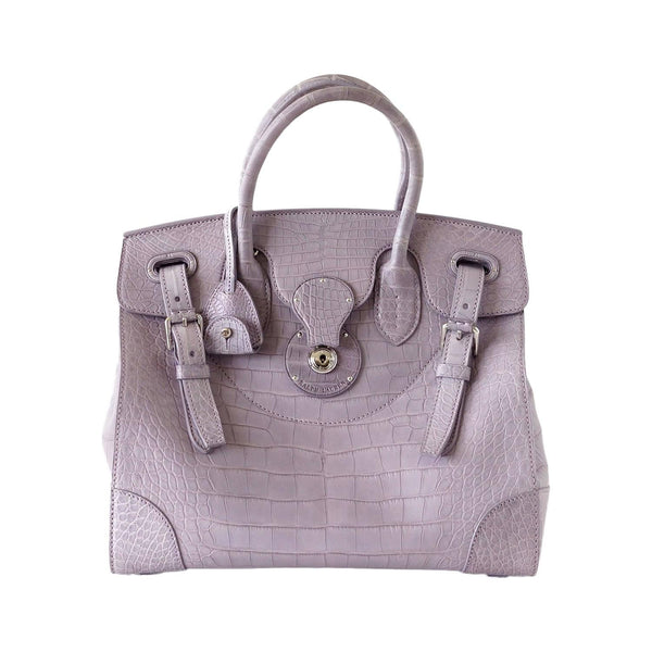 Ralph Lauren Bag Matte Alligator Dusty Lavender Ricky new - mightychic