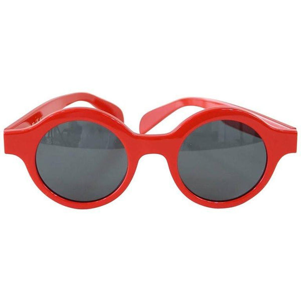 Louis Vuitton Supreme X Round Red Downtown Sunglasses Limited Edition - mightychic
