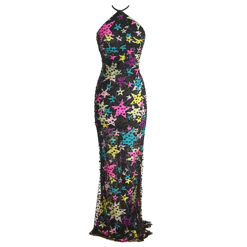Gianni Versace Couture Dress Vintage 1990s' Gianni Backless 40 / 4 - mightychic