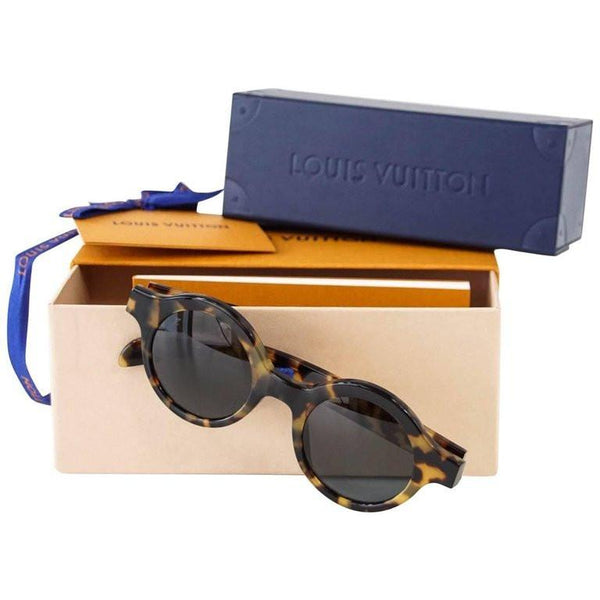 Louis Vuitton Supreme X Limited Edition Round Camouflage Downtown Sunglasses - mightychic