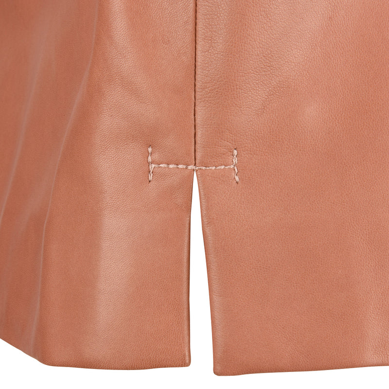 The Row Top Dusty Rose Pink Leather Sleek Perfection 6 New w/Tag