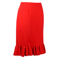 Valentino Skirt Signature Red Rear Flirty Ruffle 8 - mightychic