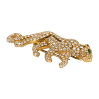 Cartier Panthere De Cartier Brooch Diamond Emerald Eye 18K Gold Signed Numbered