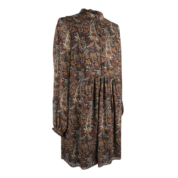 Saint Laurent Tunic / Dress Earth Tone Floral Paisley Print 38 / 6 - mightychic