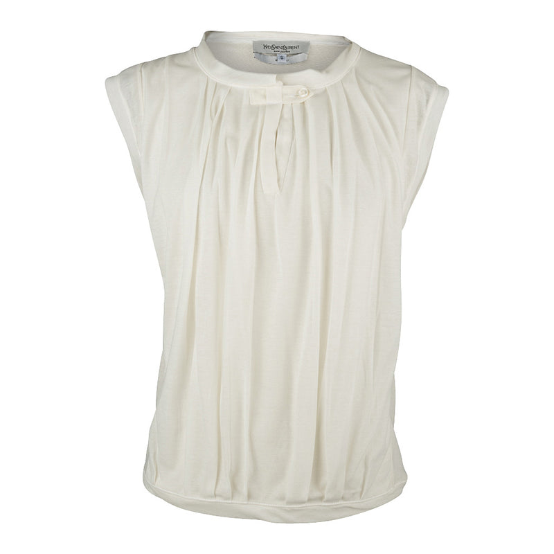 Yves Saint Laurent Rive Gauche Top Cream S