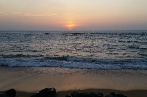 Ocean, Beach Sunset, Columbo, Sri Lanka