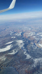 Nevada Aerial Mountains Snow Airplane 2
