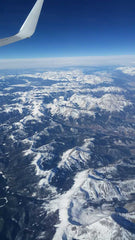 Nevada, Aerial Mountains, Snow, Airplane view