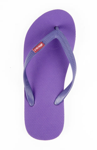 Olli Fair Trade Natural Rubber Flip-Flops: Aubergine Purple