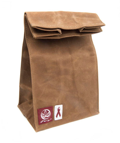 Olli Reusable 100% Organic Waxed Cotton Lunch Bag Brown
