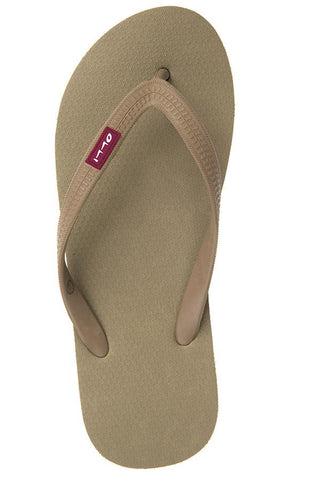 Olli Fair Trade Natural Rubber Flip-Flops rainforest-brown