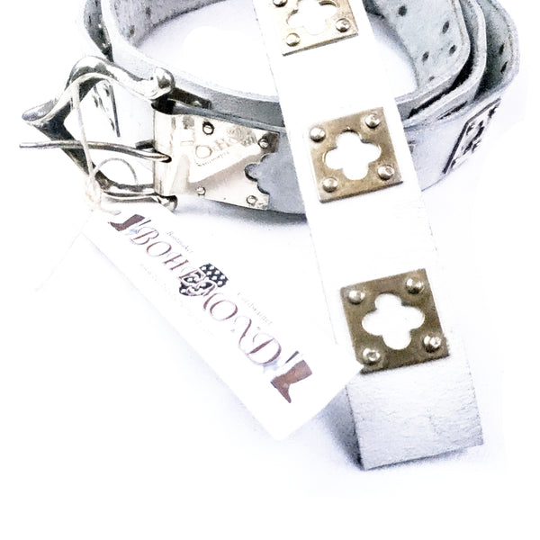 Medieval Knights Plagued Belt White