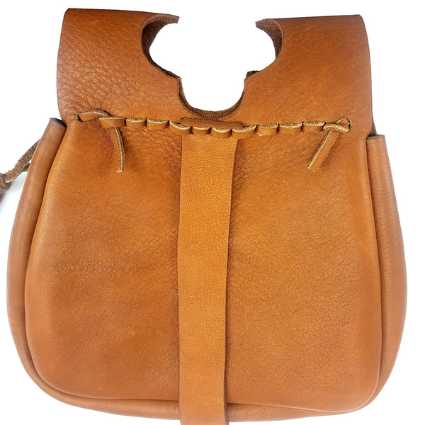 Campaign Leather Renaissance Belt Pouch - brown back view good lots of room and large to hold any smartphone