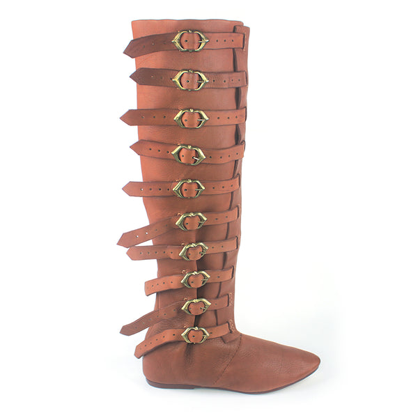 Medieval High Buckle Riding Boots | Boots By Bohemond