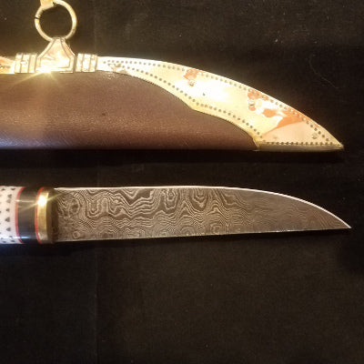 Boots by Bohemond Demascus Viking Seax and decorated sheath $75
