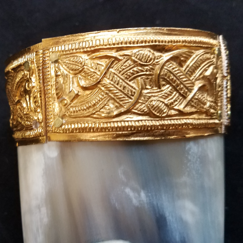 Horn Anglo Saxon Siegfied Themed Drinking Horn, Horn 8-17